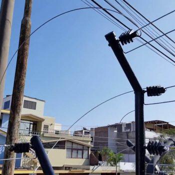 Cercos eléctricos a la calle